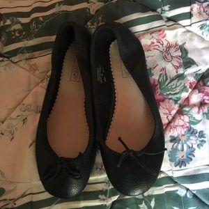 Topshop Ballet Flats Slippers, Black US 5/12, UK 3